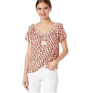 NWT. Lucky Brand Women's Smocked Top